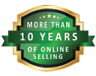 More than 10 years of online selling products.